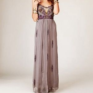 Anthro Free People ARTEMIS MAXI DRESS SIZE 0